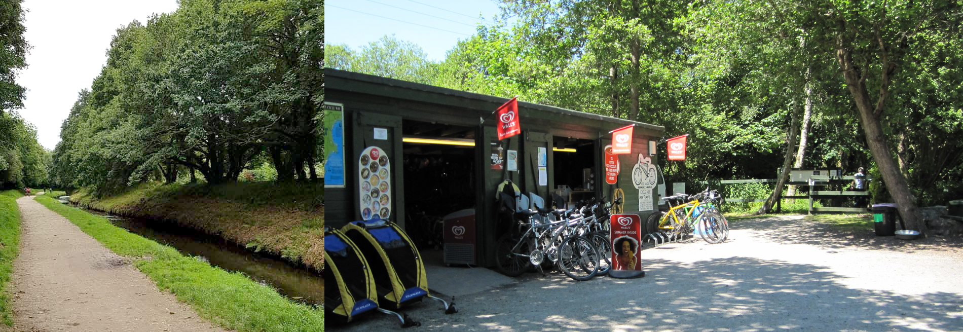 Cycle hire centre in Pentewan, Cornwall
